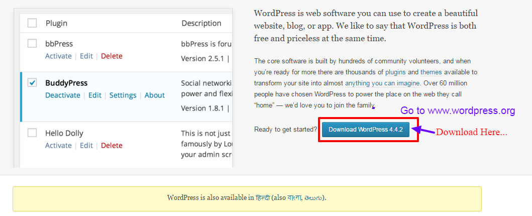 Downloading-wordpress-from-wordpress