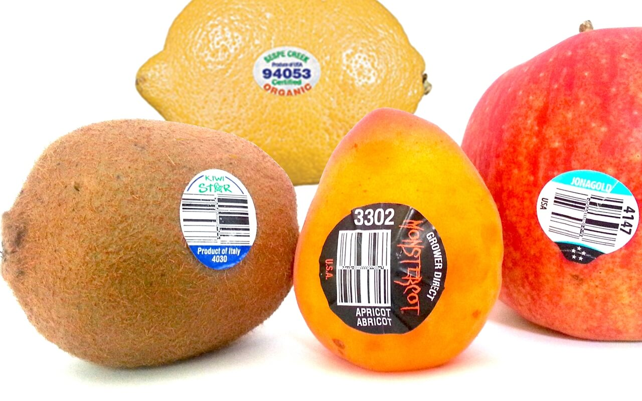 what does a sticker on fruit means?