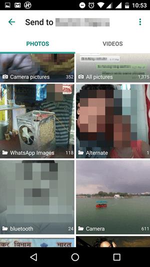 Improved photo sharing Gallery WhatsApp