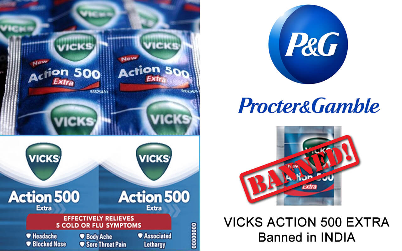 Vicks Action 500 Extra banned in india