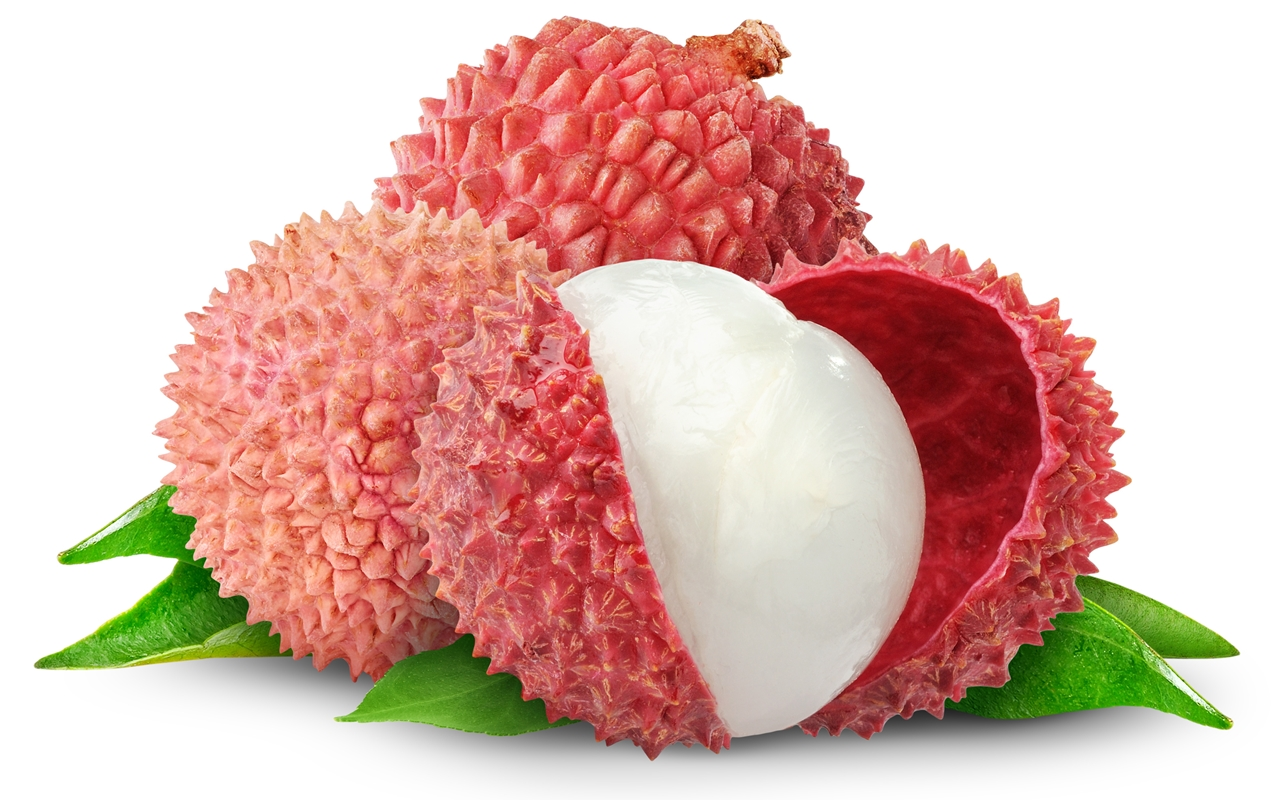 Fresh lychees A fruits to eat this summer
