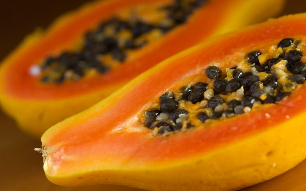 papaya A fruits to eat this summer