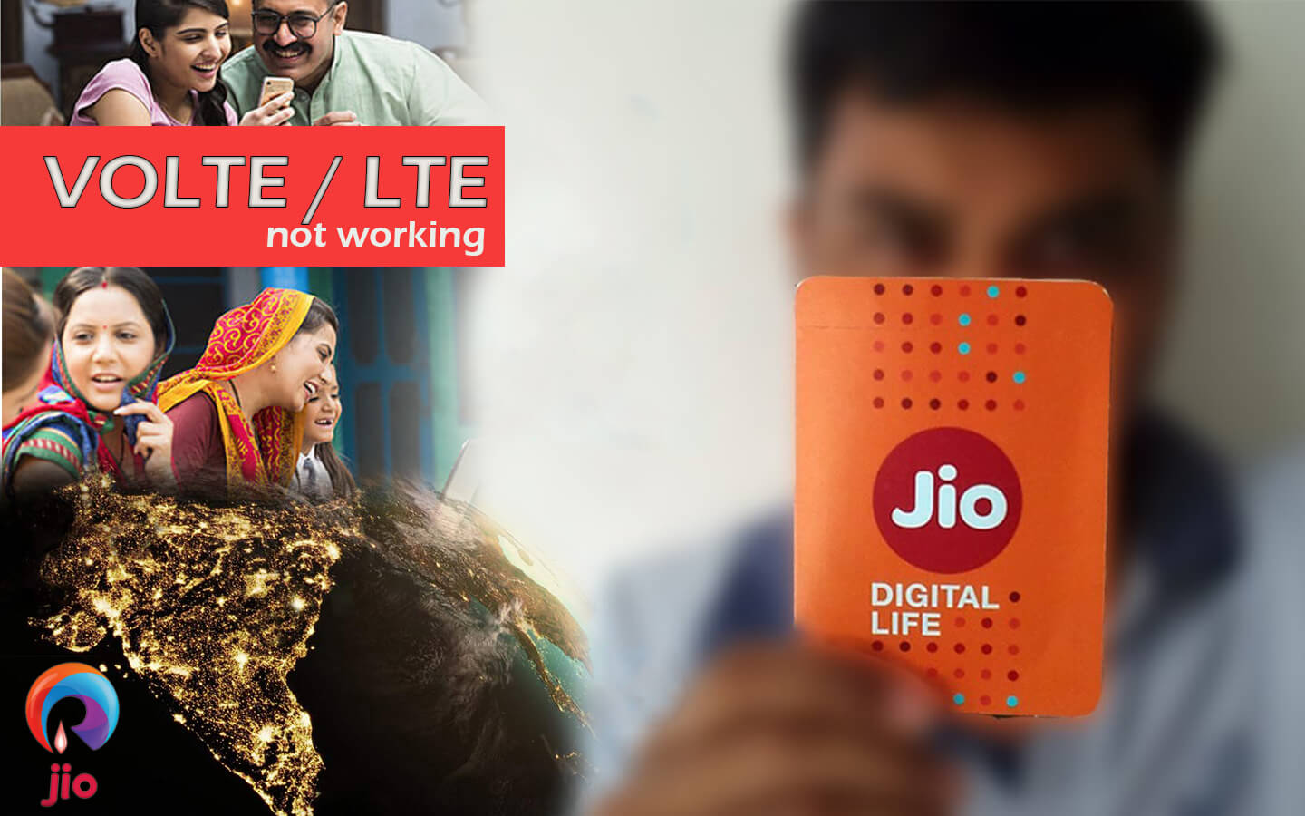 LTE working VOLTE not working in reliance jio